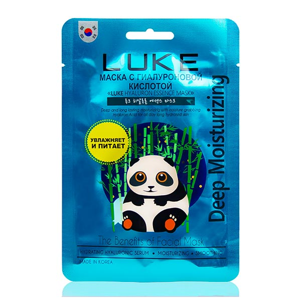 Маска для лица тканевая с Гиалуроновой кислотой LUKE Hyaluron Essence Mask